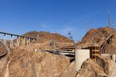 Hoover Dam Visitor Center And Bridge In Boulder City, Nv On May 13, 2013