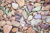 Pebbles On A Dry River Bed. Flinders Ranges. South Australia