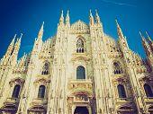 image of domme  - Vintage looking Milan Cathedral  - JPG
