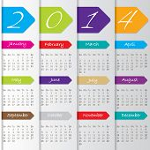 Arrow Calendar Design For 2014