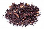 Heap Of Hibiscus Tea On White