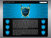 Shielded Website Template Design