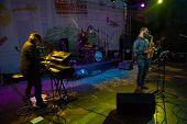 MOSCOW - SEPTEMBER 7: Andrey Kondakov group performs at Usadba Jazz Festival in Kuskovo Mansion on S