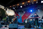 MOSCOW - SEPTEMBER 7: Singer Jenia Lubich performs at Usadba Jazz Festival in Kuskovo Mansion on Sep