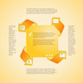 Infographics template. Four options vector.