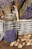 Storage Jar Dried Lavender Blossoms