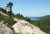 Areal view from the South Bubble Mountain At Acadia National Park