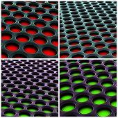 Alien Honeycomb 3D Structure