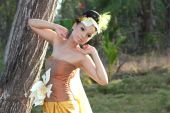pic of faerie  - portrait of woman with faerie costume outdoor - JPG