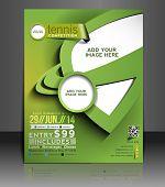 Tennis Competition Flyer Design
