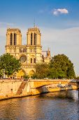 Notre Dame de Paris at sunset, Paris, France
