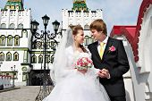 Bride And Groom About The Luxurious Palace