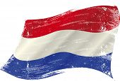 A grunge dutch flag in the wind for you