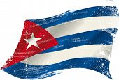 A grunge cuban flag in the wind for you