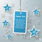 Blue Price Sticker With Stars