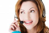 Call center woman portrait