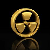 Gold Radioactive On Black