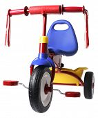 child's colorful tricycle