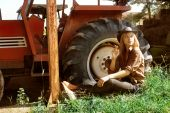 Cowgirl And Tractor