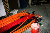 image of retarded  - Test for halogen free and fire resistant cables - JPG