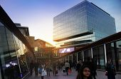 LONDON, UK-MARCH  09, 2014: View of Westfield Stratford City, Shopping Centre in evening light
