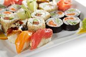 stock photo of yin  - Sushi Set  - JPG