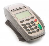 POS terminal isolated on white background