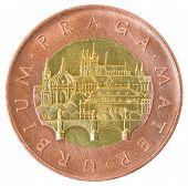 Coin of fifty Czech krones.