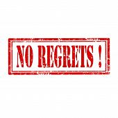 No Regrets!-stamp