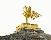 picture of shogun  - The Golden Phoenix on the Roof Top of Kinkakuji Temple - JPG