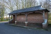 pic of bus-shelter  - Shelter at side of road for public use - JPG