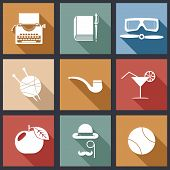 stock photo of glass-wool  - hipster detective icon vector - JPG