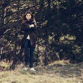 Fashion Woman Outdoor Portrait.