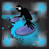 Music poster.DJ.