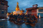 Swayambhunath Temple In Kathmandu Of Nepal