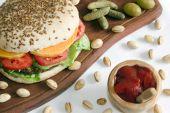 Veggie Burger And Ketchup