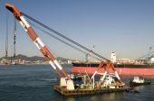 New building ships in shipyard
