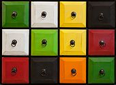 Colorful Closed Drawer Chambers