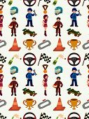 Seamless Racing Car Pattern
