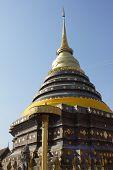 Gold pagoda Thai north