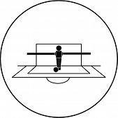 foosball goalkeeper symbol