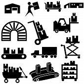 Manufacturing Icon Set