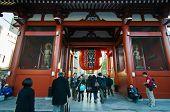 Tokyo, Japan - November 21, 2013: The Buddhist Temple Senso-ji Is The Symbol Of Asakusa