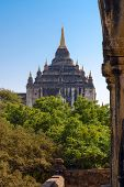 picture of tabernacle  - Pagodas and Stupas of Bagan. Thatbyinnyu Temple. Myanmar.