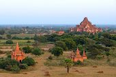 Stupas And Pagodas Of Bagan Ancient. Myanmar
