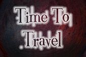 Time To Travel Concept