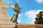 Statue Of A Winged Woman In The Monument To Victor Emmanuel Ii. Piazza Venezia, Rome