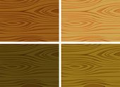 Illustration of four different wooden textures