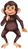 Illustration of a single chimpanzee