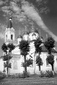 White Trinity Church,  in Tver, black and white